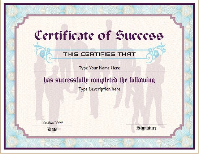 Certificate of Success DOWNLOAD at http\/\/certificatesinn - business certificates templates
