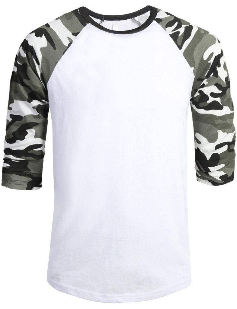 22 brilliantly creative t shirt designs jump in shirt - Le3no Mens 3 4 Sleeve Raglan Crew Neck T Shirt