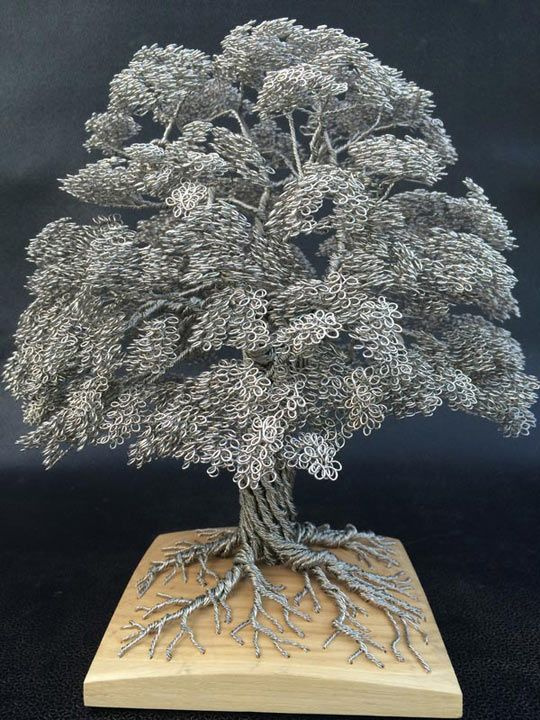 Tree Made From Aluminum Wire in 2018   Crafty wannabee ツ ...