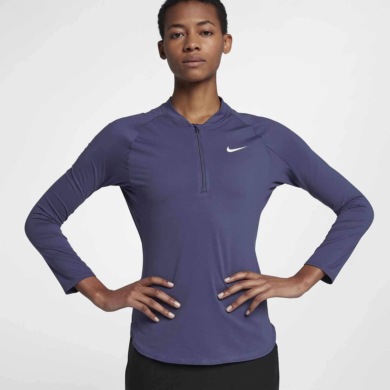 452b3368874f Nike Court Pure Women s Half-Zip Tennis Top - Xl (16–18) Blue ...