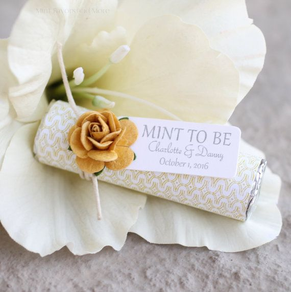 Gold wedding favors on Etsy, personalized and decorated to match your wedding. https://www.etsy.com/listing/399952265