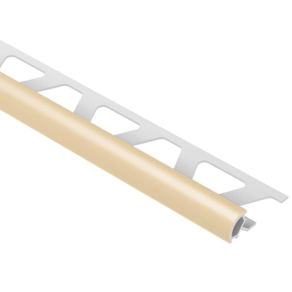 Schluter Rondec Bahama 5 16 In X 8 Ft 2 1 2 In Pvc Bullnose Tile Edging Trim Pro80bh Tile Edge Trim Tile Edge Bullnose Tile
