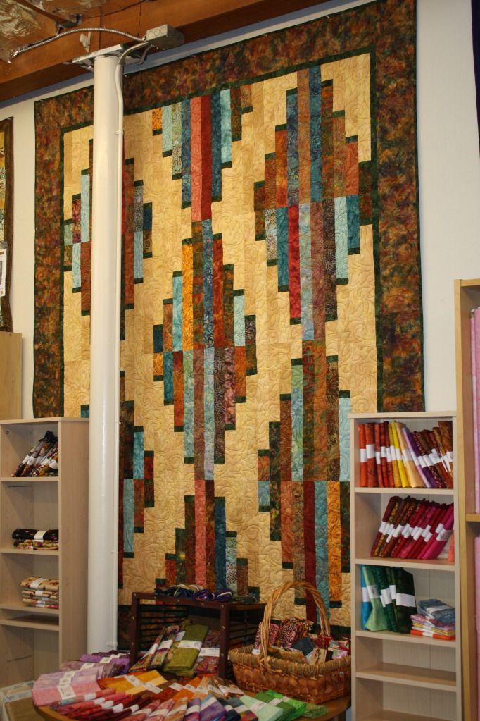 New Strip Pieced Quilt Pattern     Southwest American Rug Design