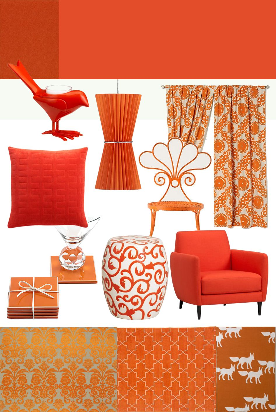 tangerine coral orange home decor decor home decor on home office color trends id=13926