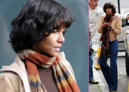 "Halle Berry Wigs Up for ""Cloud Atlas"" in Glasgow"
