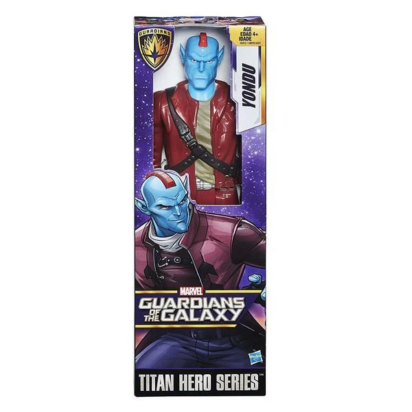 This is a Guardians Of The Galaxy Titan Hero Yondu 12 Inch Action Figure that's produced by the neat folks over at Hasbro. Yonduis roughly 12 inches tall. Nea