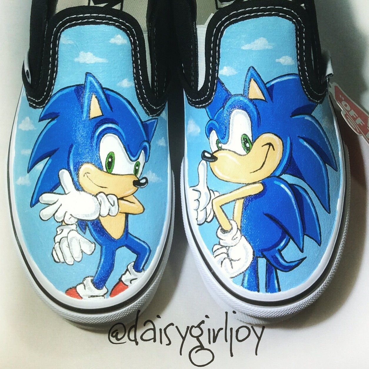 Custom Hand Painted Sonic The Hedgehog Toddler Children S Shoes Sonic Shoes Childrens Shoes Hand Painted Shoes