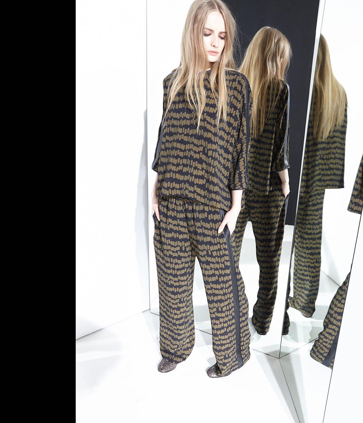 moda abbigliamento print pants top moda fashion style
