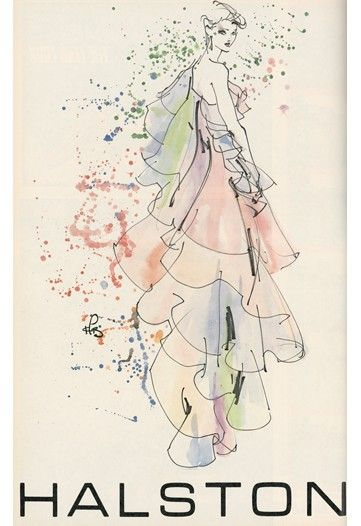 Kenneth Paul Block fashion illustration | kenneth paul block halston 205x300 kenneth paul block halston