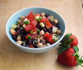 diary of a mod housewife: Two Bean Vegan Salad