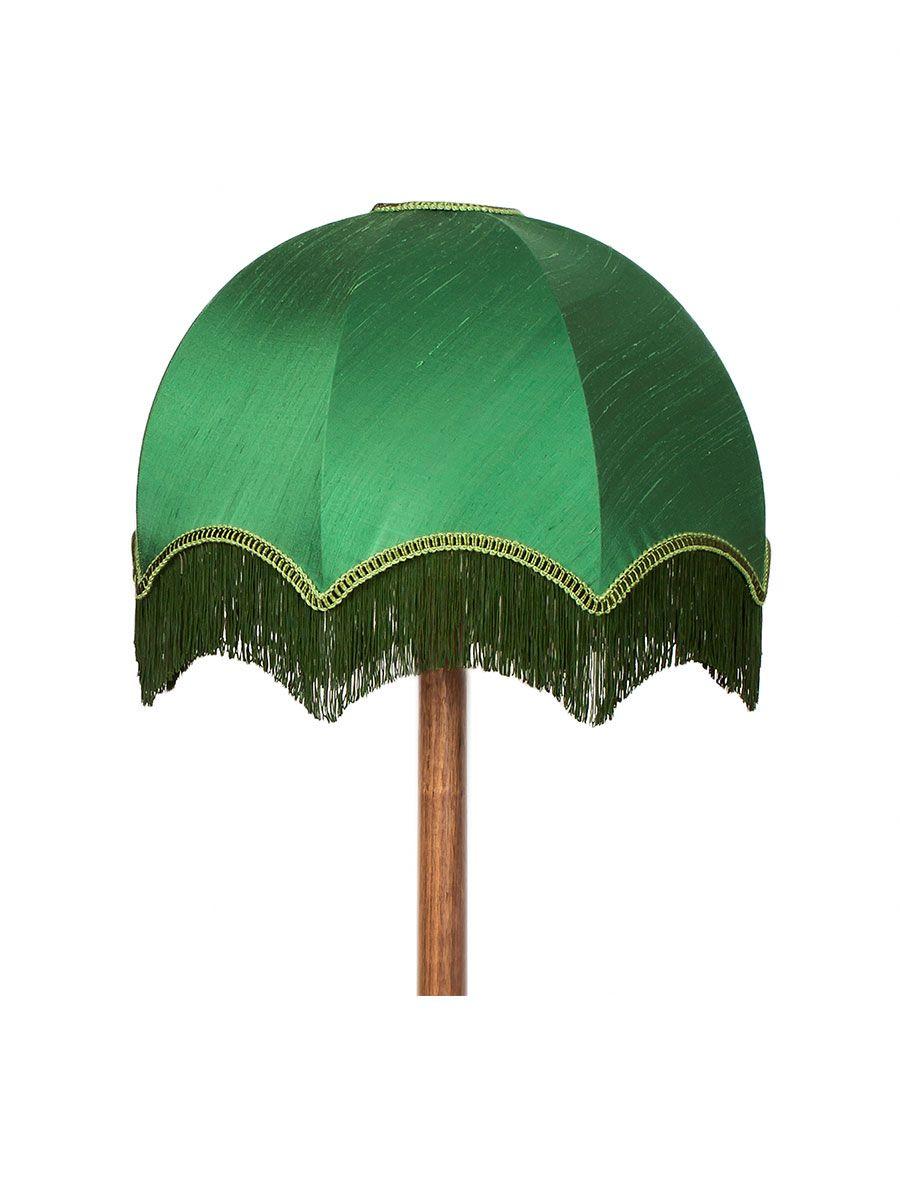 Muscat Green Silk Tassel Chimney Bell Lampshade 12 Vintage Lampshades Traditional Lamp Shades Green Lamp Shade