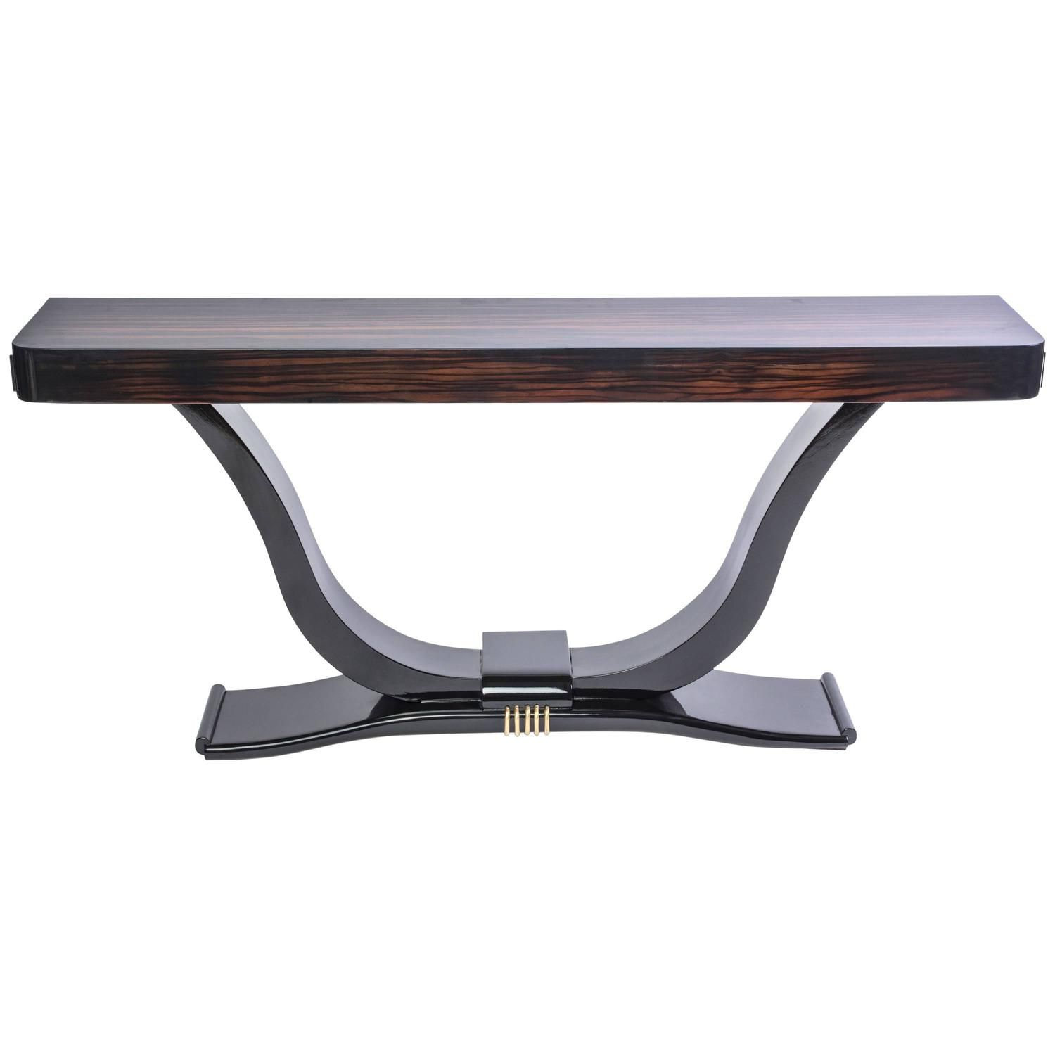 Beautiful art deco palisander with macassar ebony console table beautiful art deco palisander with macassar ebony console table geotapseo Image collections