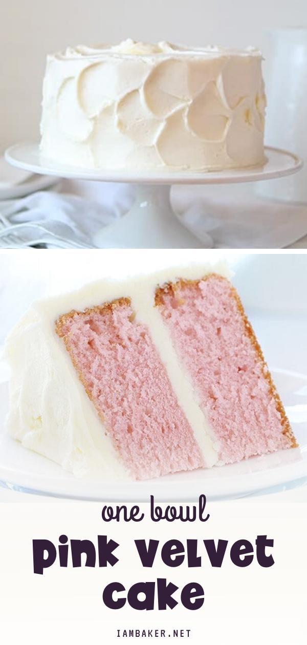One Bowl Pink Velvet Cake In 2020 Pink Velvet Cakes Homemade Cakes Vinegar Cake Recipe