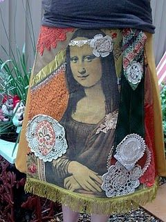 Mona Lisa skirt #skirts #monalisa #art