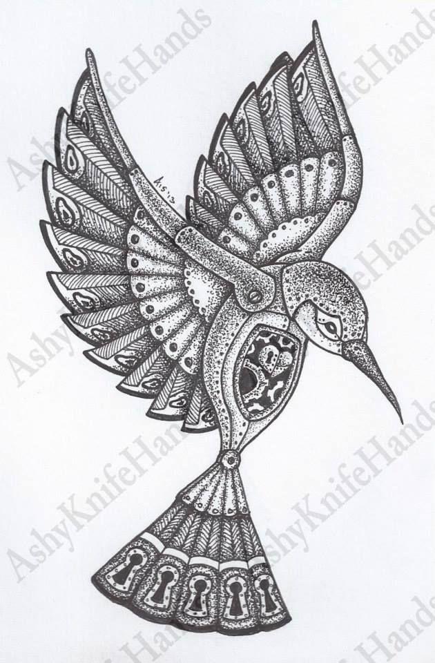 Original Mechanical Bird Illustration by Ashyknifehands ...