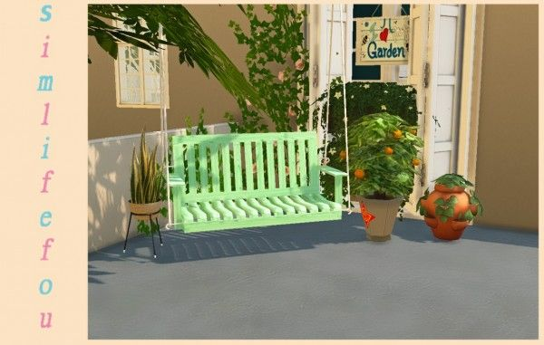 Simlife: Porch Swing � Sims 4 Downloads