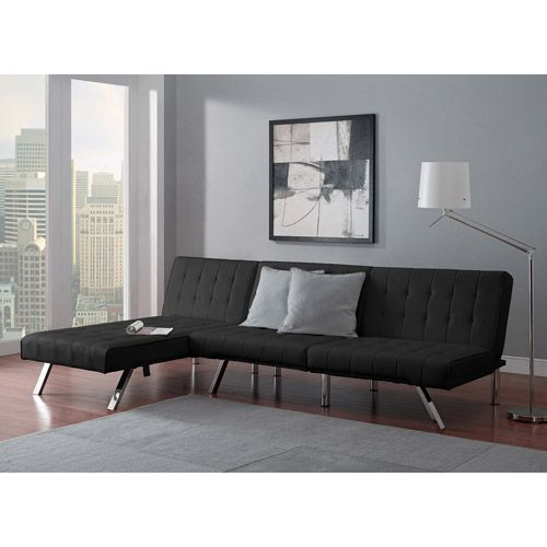 Emily Futon With Chaise Lounger Multiple Colors Furniture Com Looks Expensive But Is Just 314 00 Now Has Good Reviews As Well