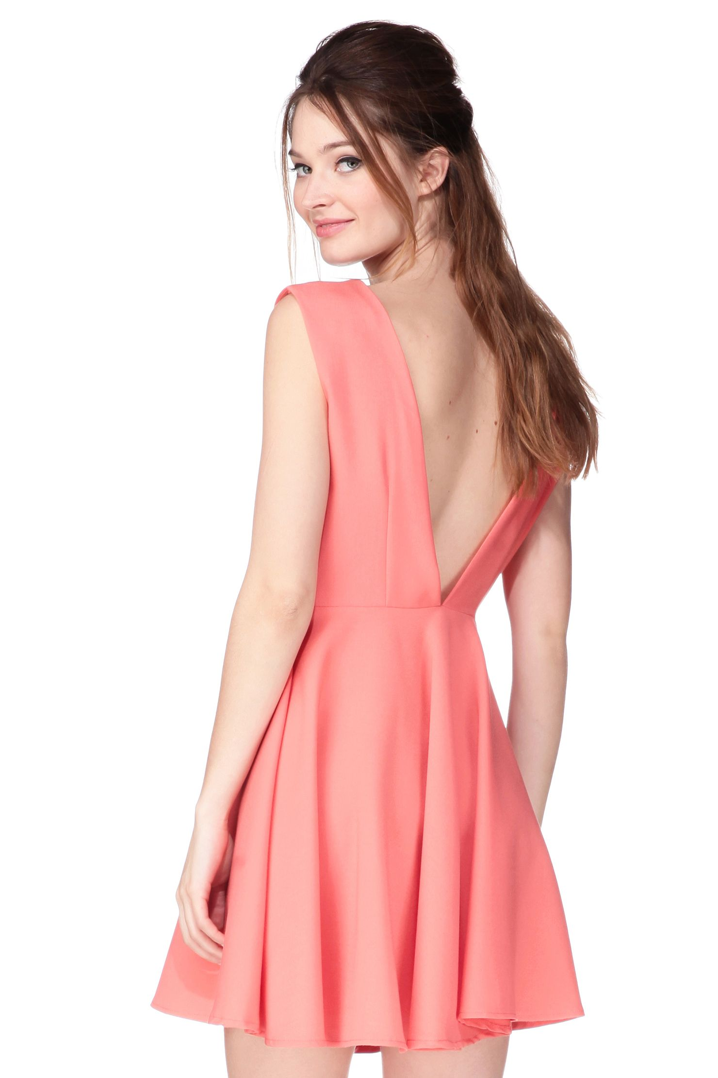 Robe Corail Dos Ouvert Paw Paw Robe Corail Robe Longue Robe Cocktail Mariage