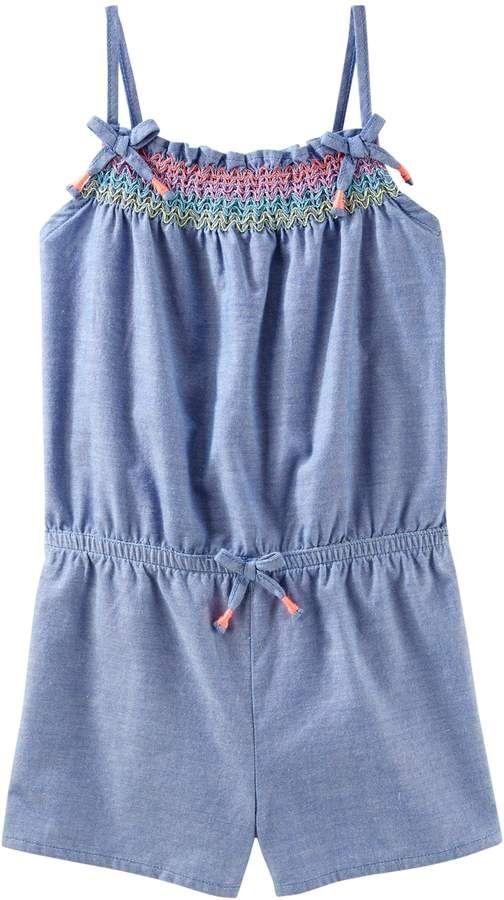ca228df95 Girls 4-12 OshKosh B'gosh® Chambray Romper | Products | Toddler girl ...