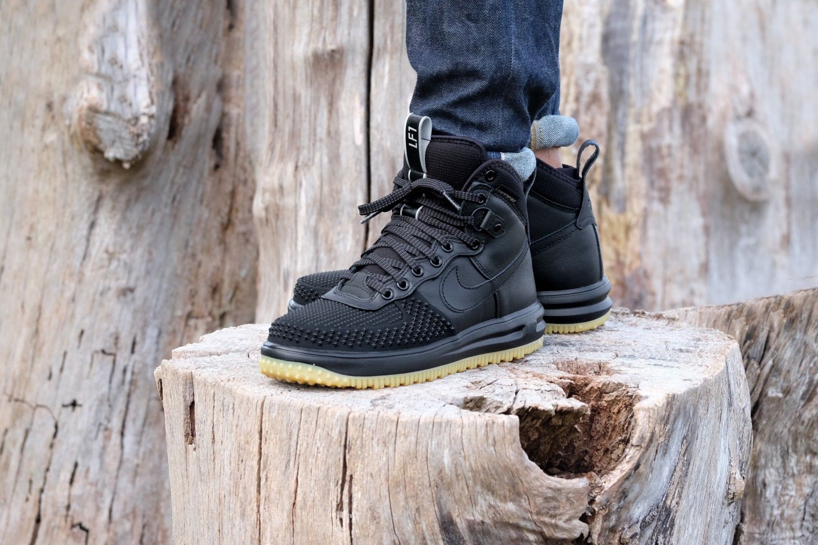 Nike Lunar Force 1 Duckboot Black/ Black-Metallic Silver - 805899-003