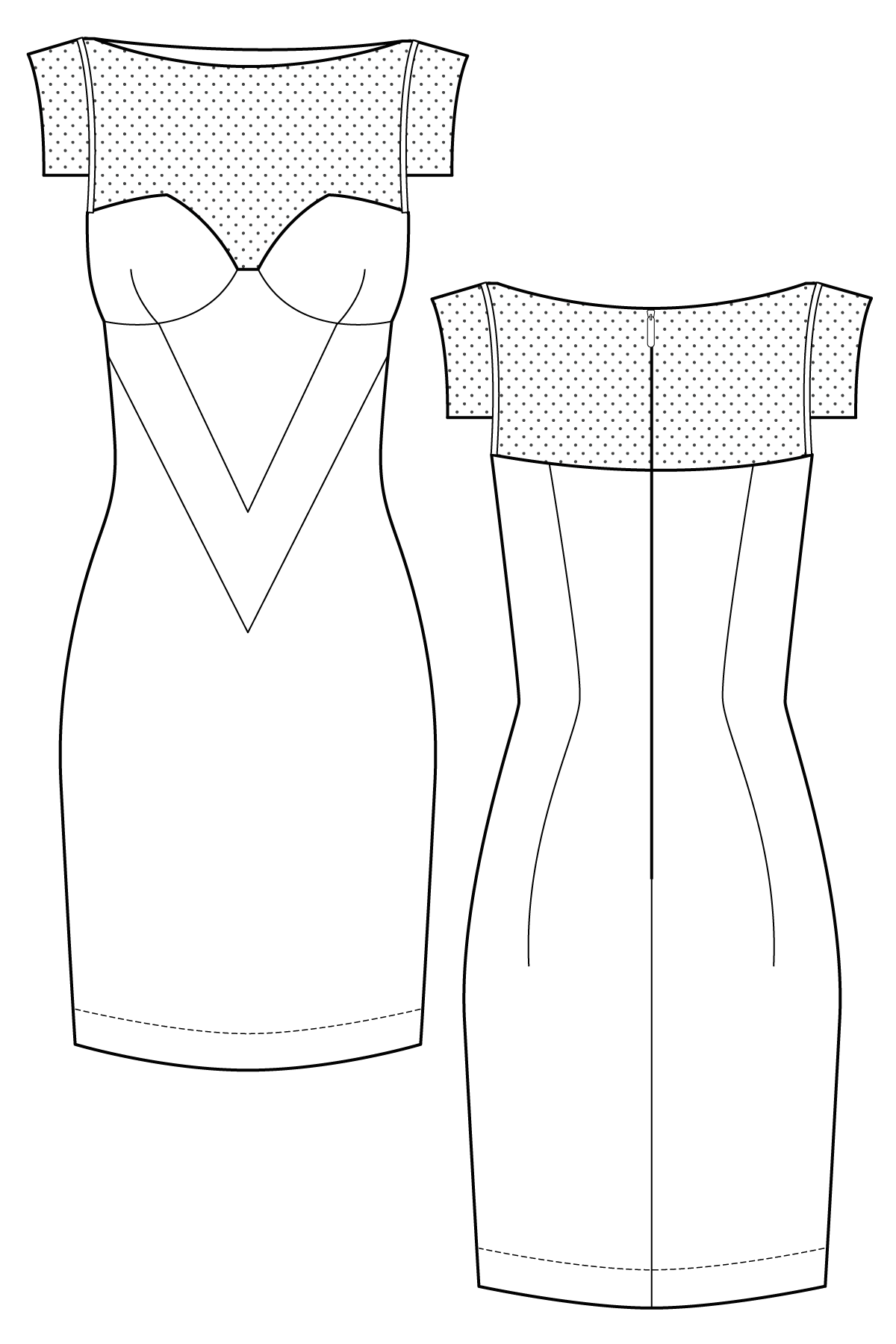 Cap Sleeve Bodycon Tailored Dress Sewing Pattern Ralph