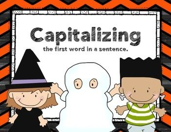 FREEBIE - Capitalizing the first letter in a sentence Hall
