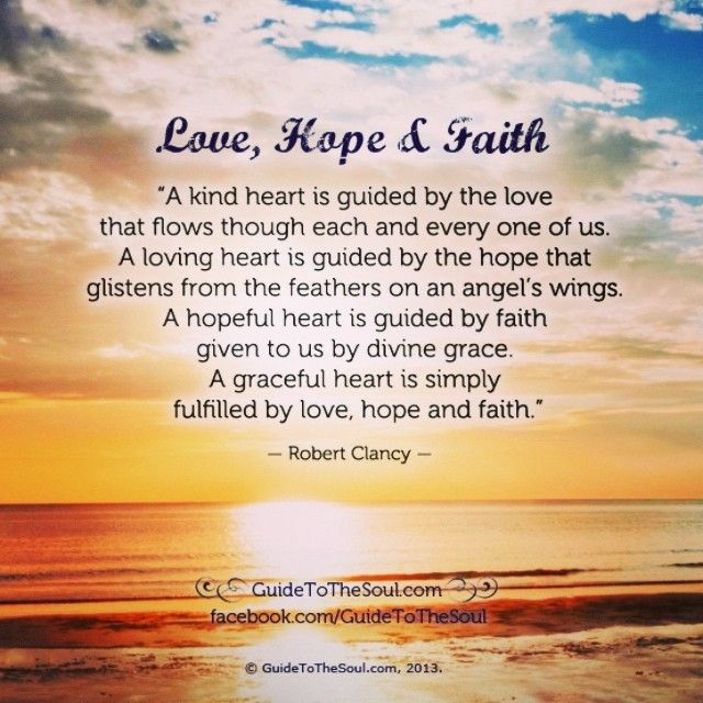 love faith hope inspirational quote www