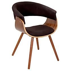 Lumisource Vintage Mod Chair, Espresso/Walnut