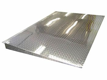 A Stainless Steel Ramp Extension With Perforated Holes Perforated Metal Steel Stair Treads