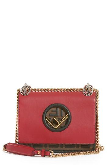 44322a43c14b Spend less on Fendi Small Kan I Logo Leather Shoulder Bag