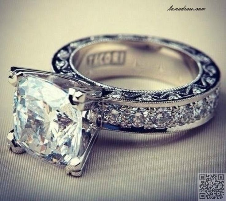 37. #Thick Band - 45 Sparkling #Engagement and Wedding Rings for You ...