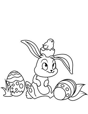 Ausmalbild Osterhase Mit Kuken Und Eiern Malvorlage Hase Osterhase Malen Ausmalbilder