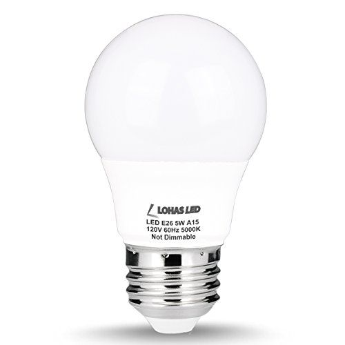 Lohas A15 Led Bulb 5w40w Equivalent Medium Base E26 Led Light Bulbs Daylight White 5000k 450lm Led Lights Led Track Lighting 60 Watt Light Bulb Led Light Bulbs