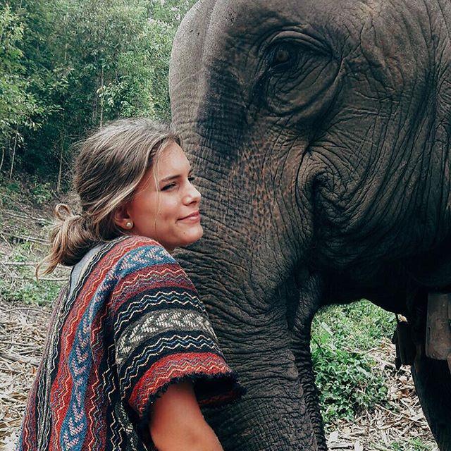 Abrazando a mi elefantito bonito aunque parezca de mentira💘🐘//❌No elephants riding❌