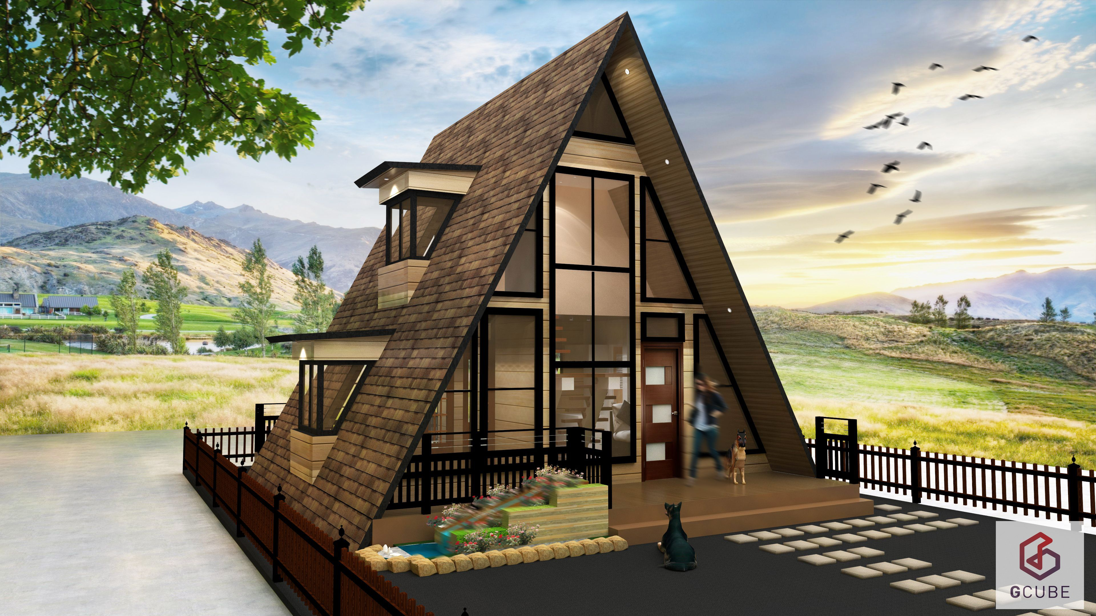 This small a frame house design philippines is a resthouse and 4 person office in one