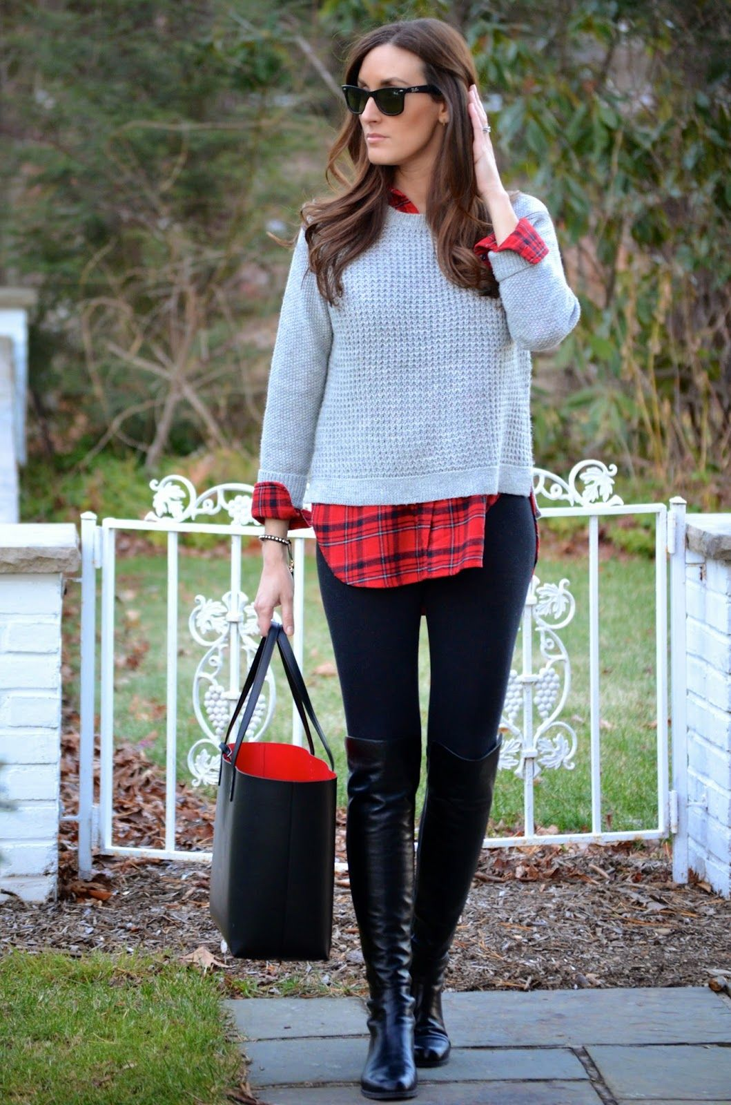 Flannel with jeans and boots  festive flannel  Wear to Work  The Blogger Collective  Pinterest