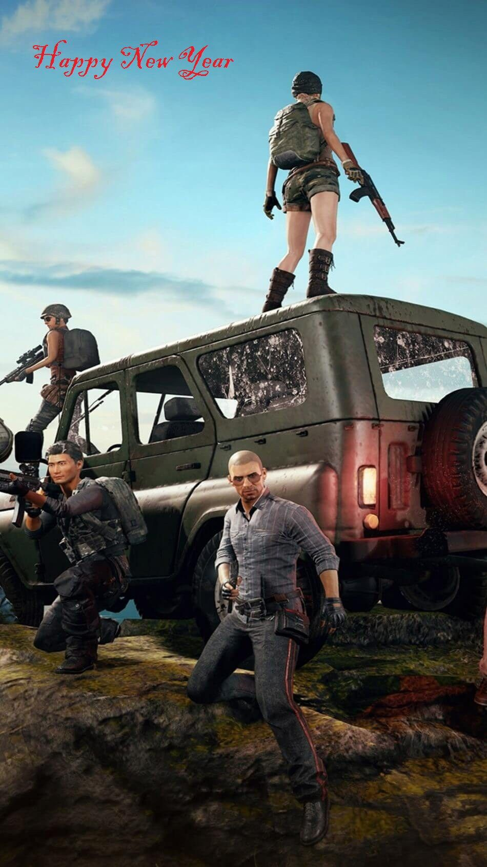 Happy New Year Pubg Messages With New Year Pubg Captions Mobile Wallpaper Mobile Legend Wallpaper Game Wallpaper Iphone
