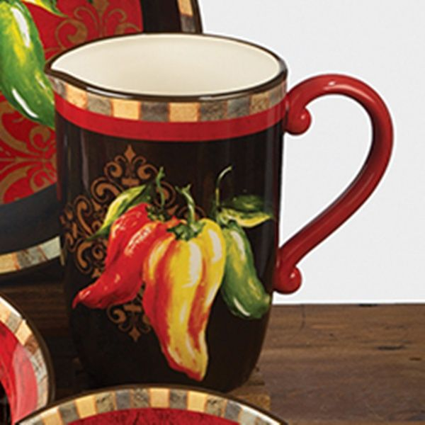 Chili Pepper Decor Chili Pepper Pitcher 3 Quart 13 25 Inches