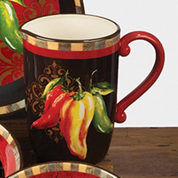 chili pepper decor chili pepper pitcher 3 quart 13 25 inches stuffed peppers chili kitchen on kitchen decor pitchers carafes id=72393