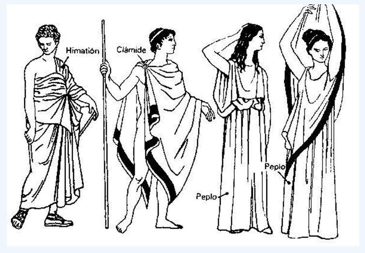 El chiton o túnica era una prenda indispensable para los griegos. Lo ...