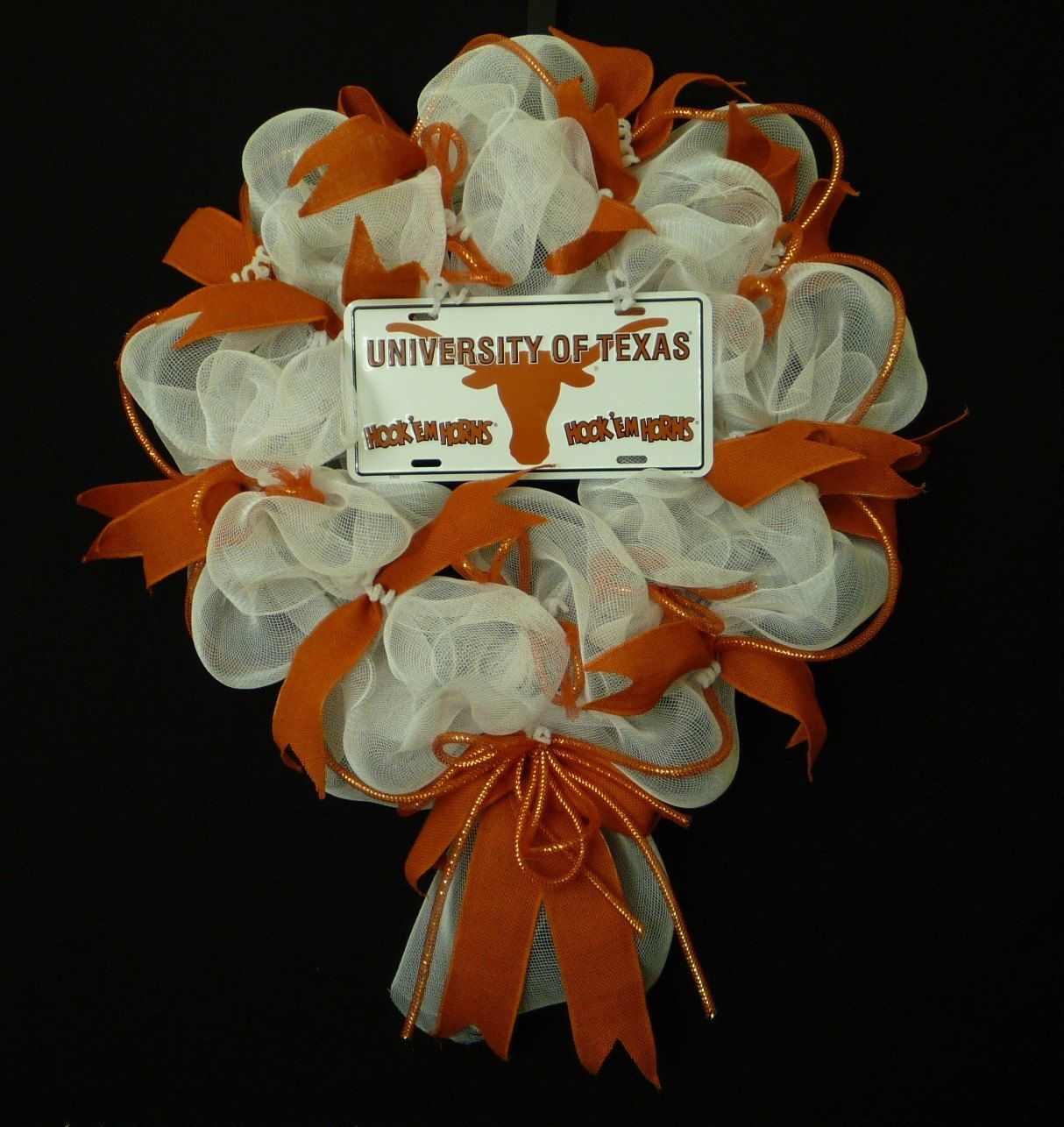 University Of Texas Wreath, so cute!