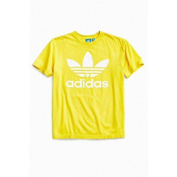 7c34e1b12 adidas Trefoil Tee ($28) ❤ liked on Polyvore featuring men's fashion, men's  clothing, men's shirts, men's t-shirts, adidas mens t shirt, mens yellow  shirt ...