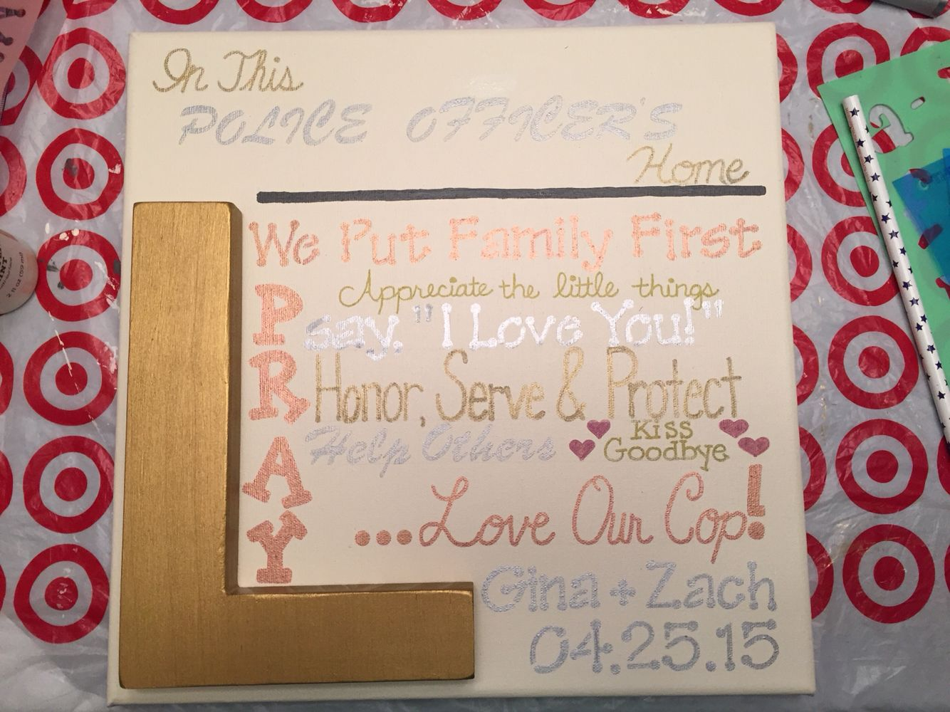 Police Officer Home Sign A Wedding Gift For My Cousin My