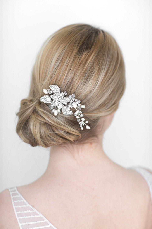 Mariage cheveux en cristal peigne mariée Tiara bride cheveux pièce accessoires