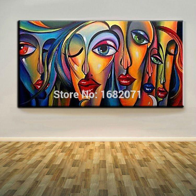 comp u00e9tences artiste main haute qualit u00e9 abstraite portrait peinture  u00e0 l u0026 39 huile sur toile peinte  u00e0