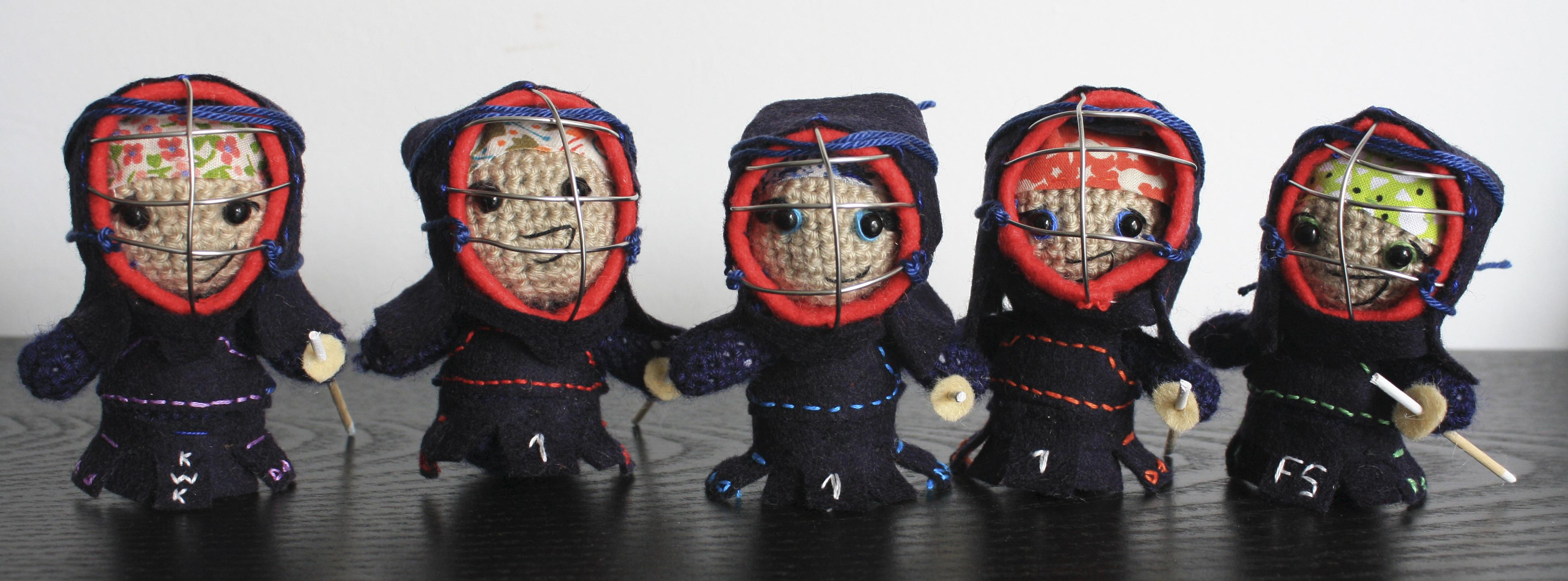 Mujeres Kenshi 2014 - kendo amigurumi by black mambart