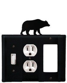 Bear - Single Switch, Outlet and GFI Cover by Village Wrought Iron. $17.12. Bear - Single Switch, Outlet and GFI CoverApprox. 6 1/2 In. W x 8 In. H Please allow 4 to 6 weeks for delivery.