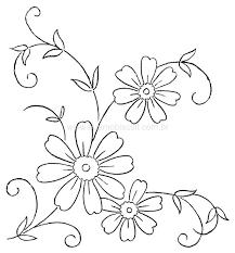 Resultado de imagen para riscos para bordar flores  Guiomar