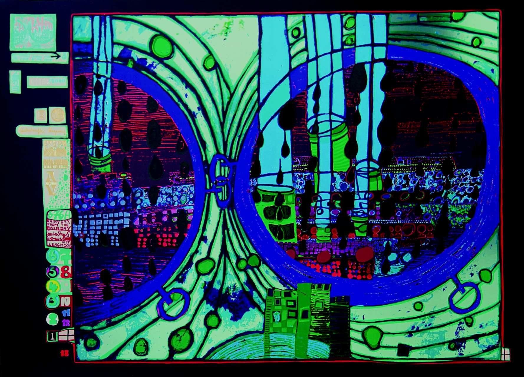 REGEN AUF REGENTAG von Friedensreich Hundertwasser, 1971