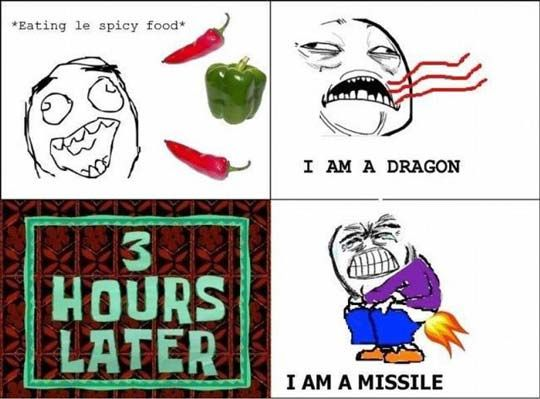 Im a dragon and later I'm a missile